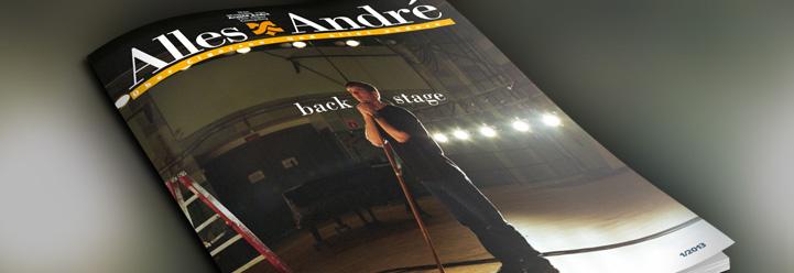 "Neue Ausgabe von Alles André: ""backstage"""
