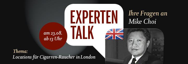 Ankündigung: Experten-Talk mit Mike Choi zu Locations für Zigarren-Raucher in London
