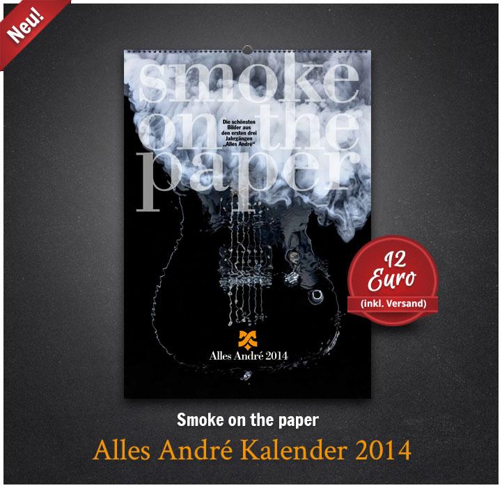 "Jetzt neu: der ""Alles André Kalender 2014"""