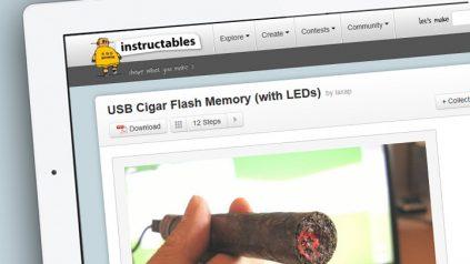 Echte Zigarre als USB-Stick