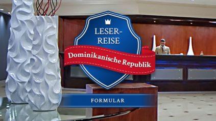 Leserreise Dominikanische Republik Formular