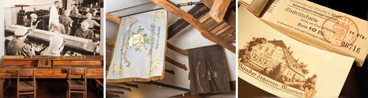 Exponate aus dem Zigarrenmuseum