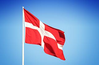Dänische Flagge auf Fünen