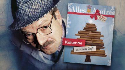 Herr Heuser auf dem Weihnachtsmarkt