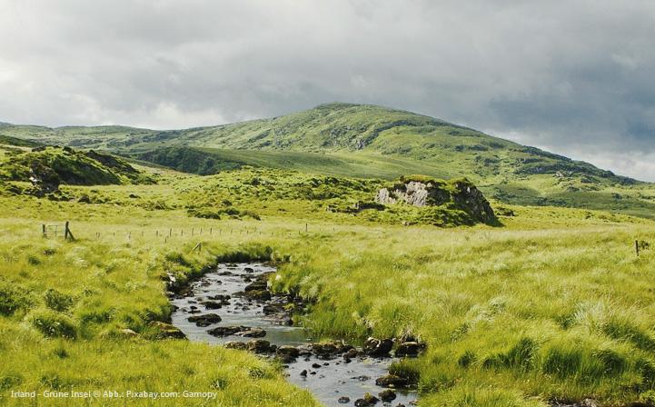 Blick auf die Irische Insel beim St. Patrick's Day