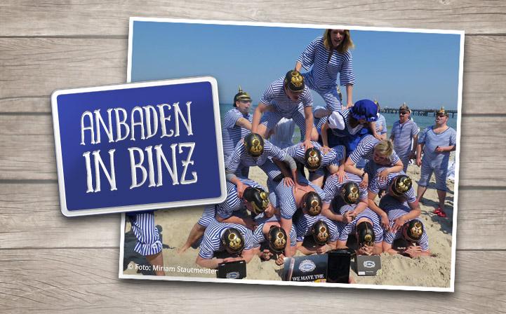 """Anbaden"" im Ostseebad"