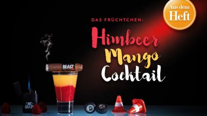 Himbeer Mango Cocktail