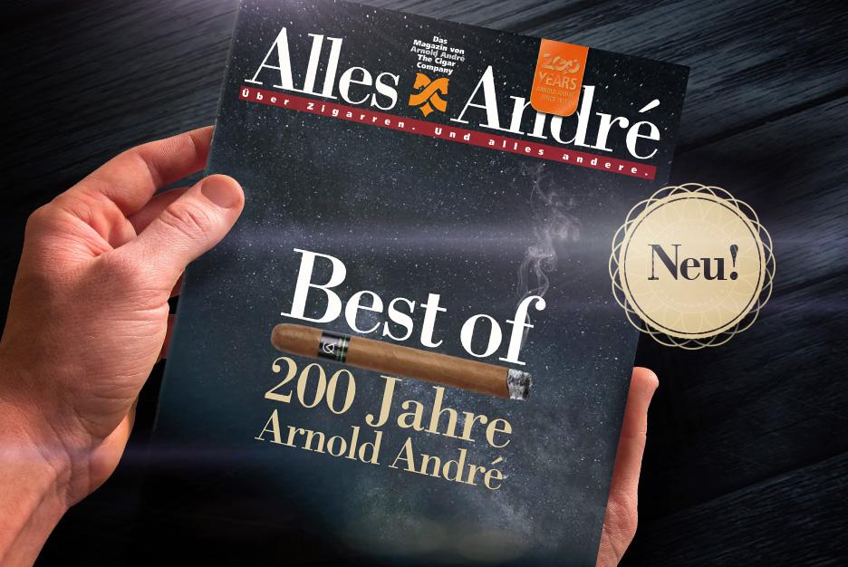 "Jubiläums-Ausgabe von Alles André: <br /> ""Best of – 200 Jahre Arnold André"""