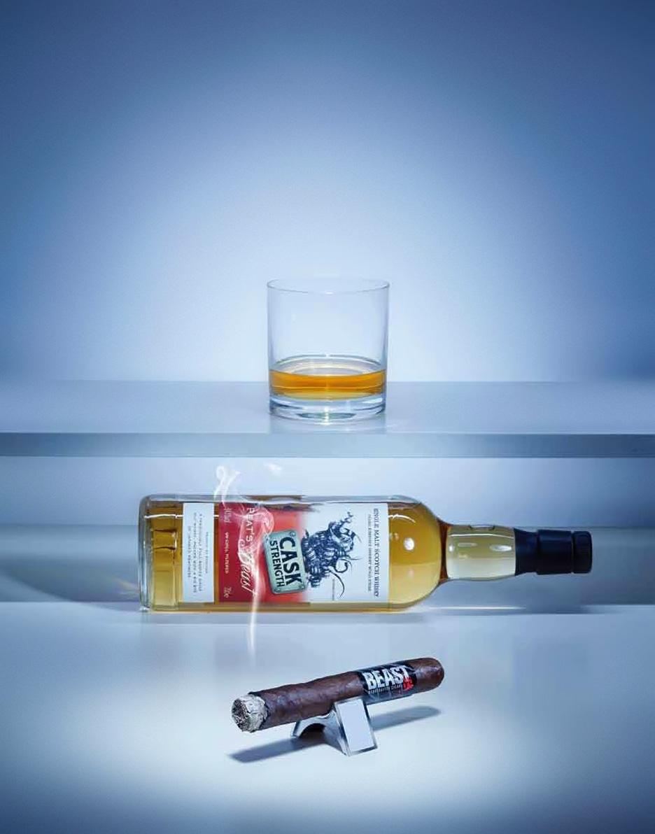 BEAST Zigarre und Peats Beast Whisky