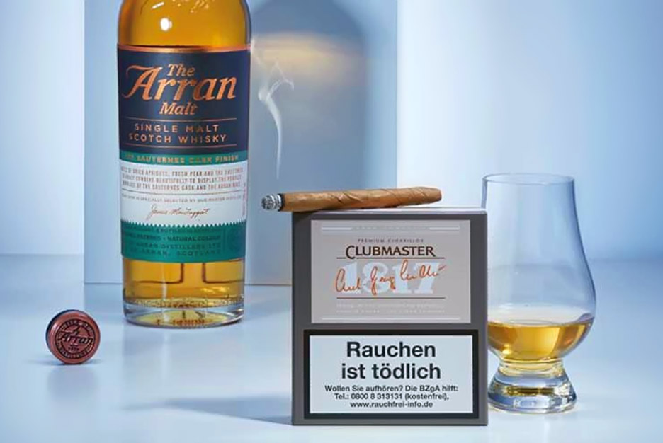 Zigarre in Kombination mit Whisky: Clubmaster 1817 & Arran Single Malt Whisky