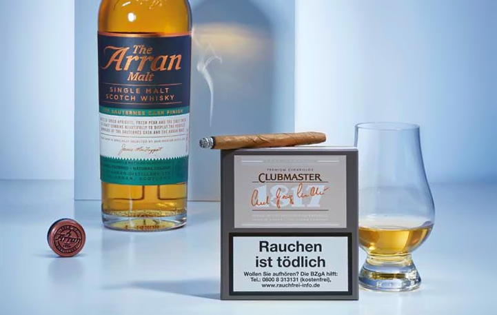 Zigarre in Kombination mit Whisky: Clubmaster 1817 und Arran Single Malt Whisky