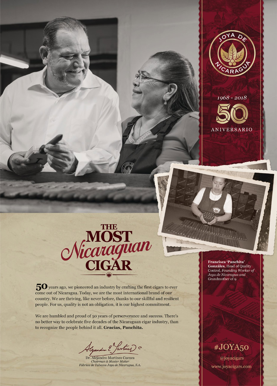 Jubiläum: 50 Jahre Joya de Nicaragua