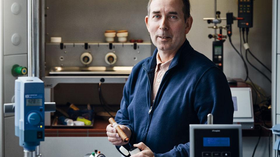Michael Fröhlich in seinem Labor