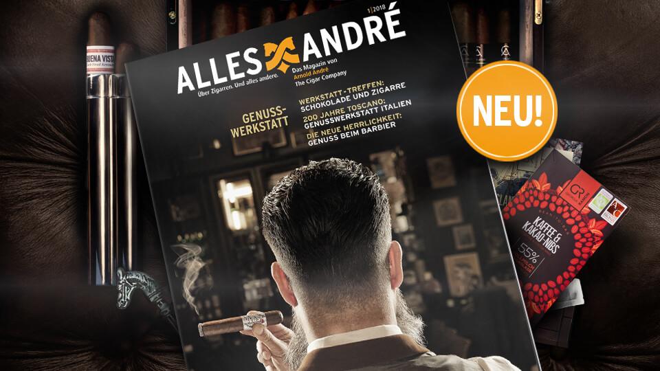 Neue Ausgabe vom Zigarren-Magazin Alles André: Genusswerkstatt