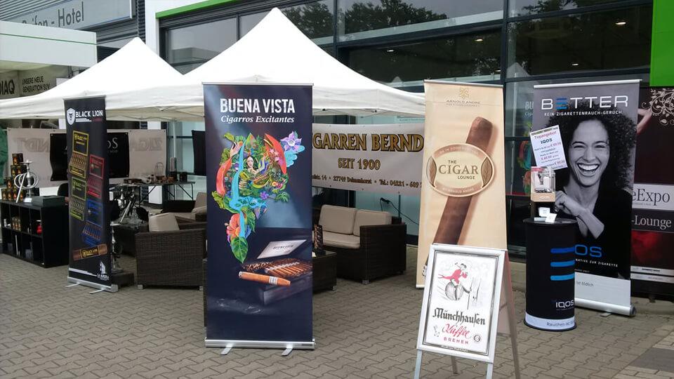 Die Zigarrenlounge auf der Delme-Expo 2018