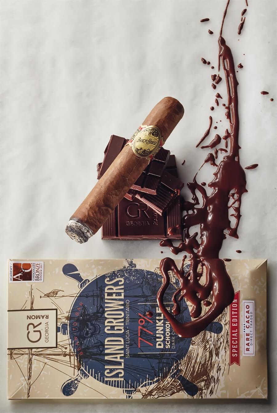 Brick House Robusto kombiniert mit der Schokolade Island Growers 77 %