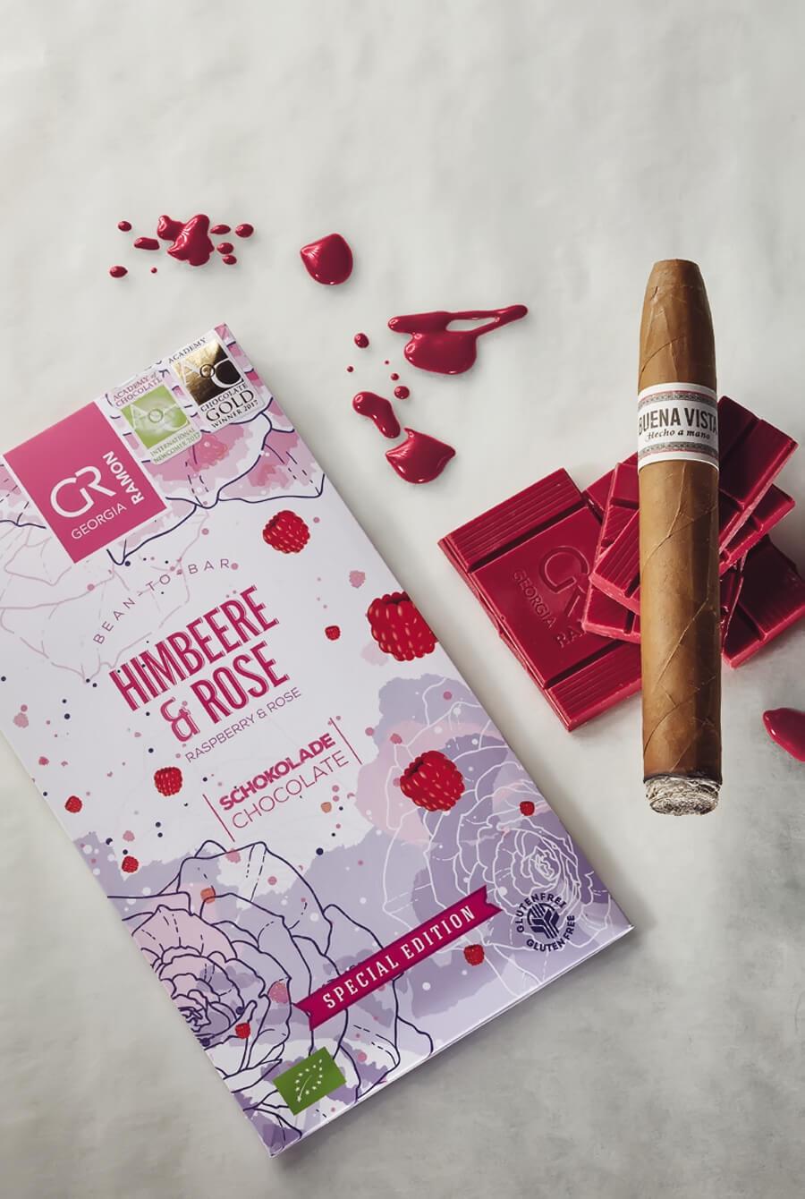 Buena Vista Araperique Belicoso kombiniert mit der Schokolade Himbeer & Rose