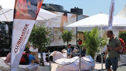 Clubmaster White Lounge beim Truck Grand Prix 2018