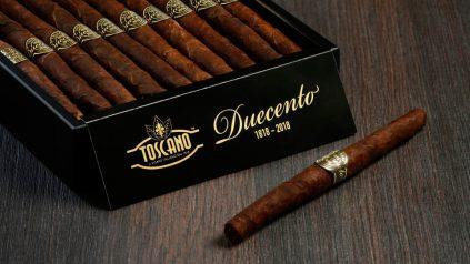 Toscano Duecento – 200 Jahre Tabakgeschichte in 200 mm ausgedrückt