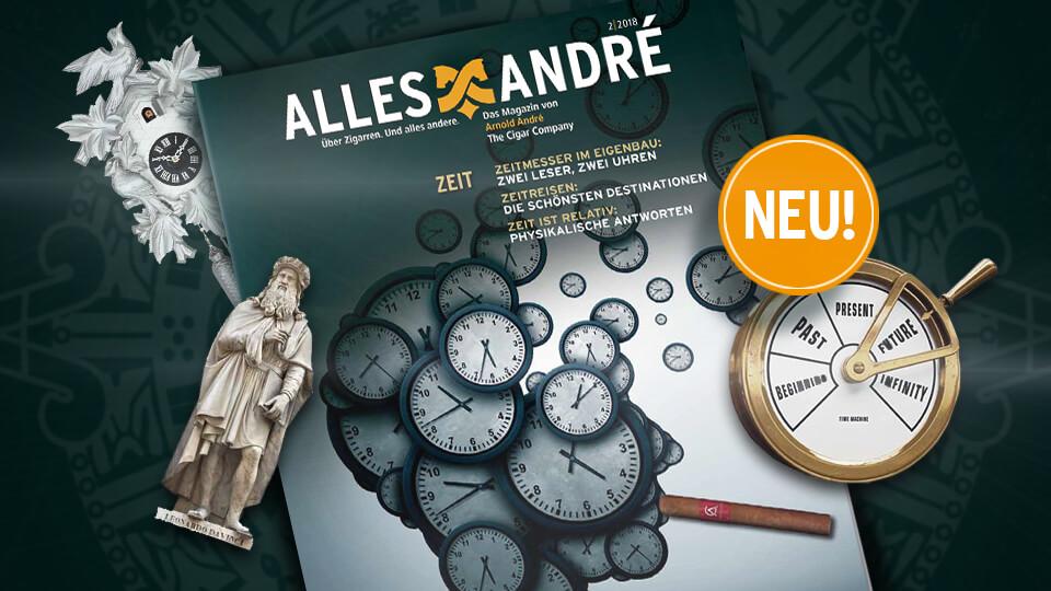"""Neue Ausgabe vom Zigarren-Magazin Alles André zum Thema """"Zeit"""""""