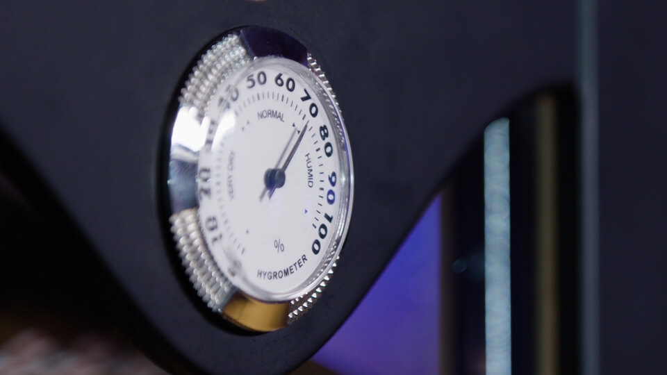Hygrometer eines Humidors