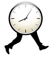 Laufende Uhr