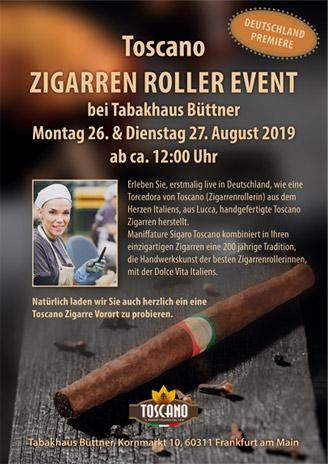 Toscano Zigarren Roller Event