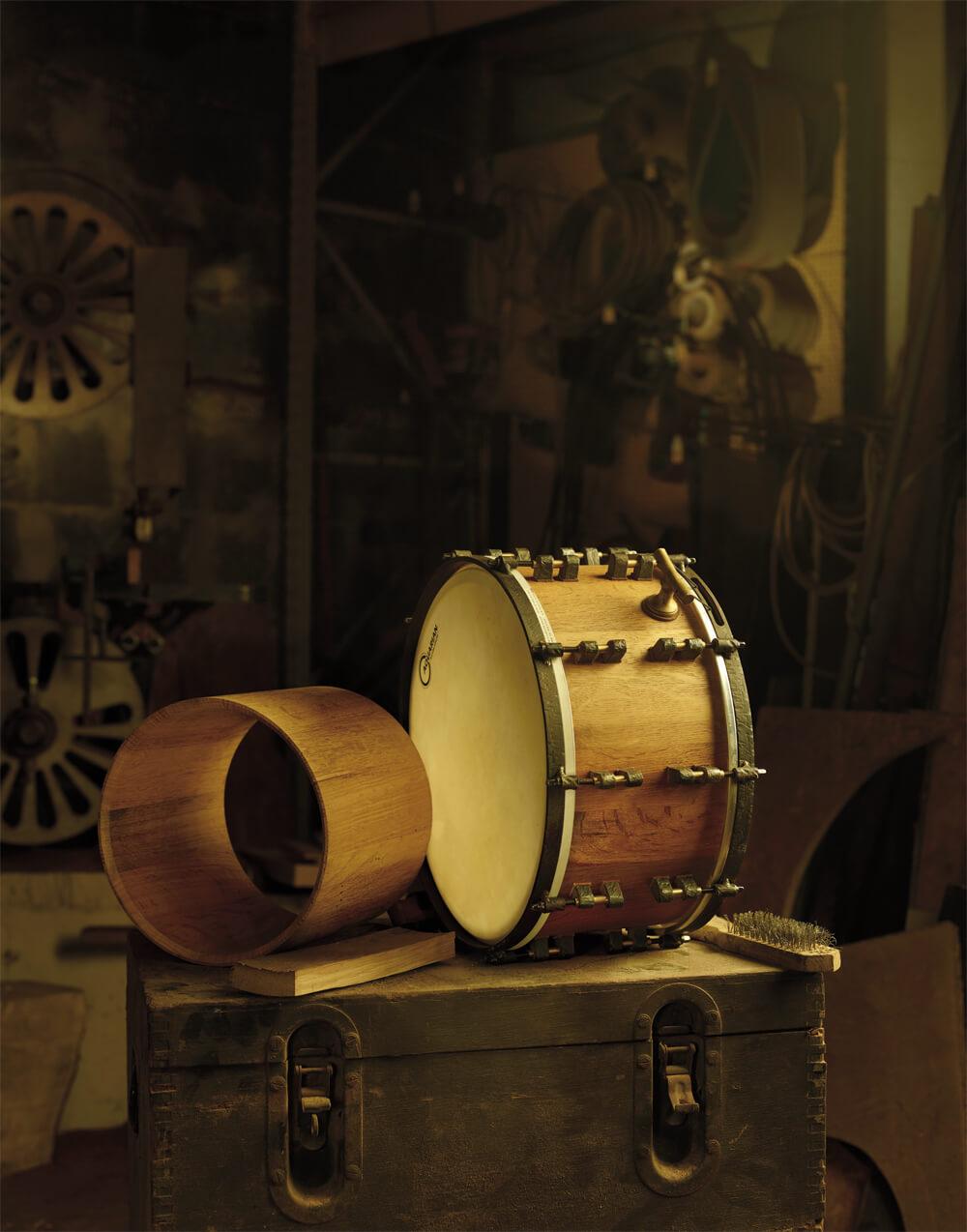 Schlagzeug aus der Werkstatt von Boris Ritschers Midmill Drums