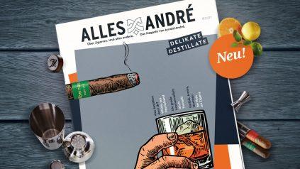 """Neue Ausgabe vom Alles André Magazin: """"Delikate Destillate"""""""