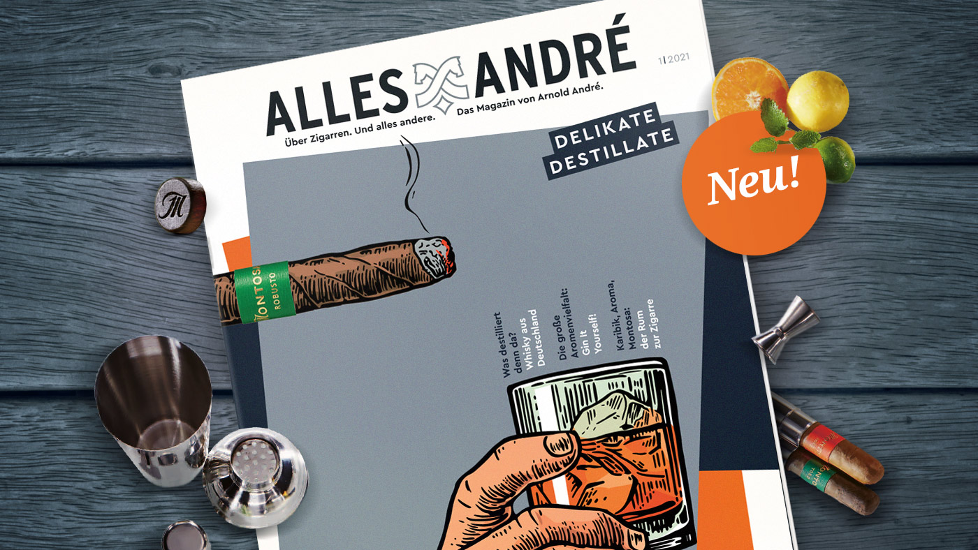 "Zigarren-Magazin Alles André mit dem Themenschwerpunkt ""Delikate Destillate"""