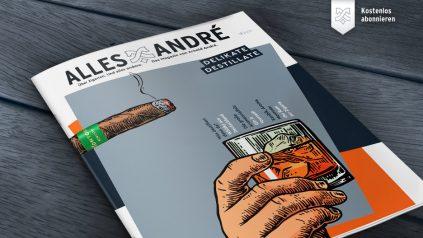 """Inhaltsverzeichnis zur Ausgabe """"Delikate Destillate"""" von AllesAndré"""